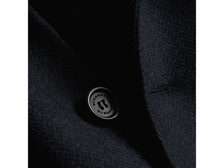 Soho Fit Herringbone Wool Tailored Jacket in Ink Blue/black - Men | Burberry - cell image 1