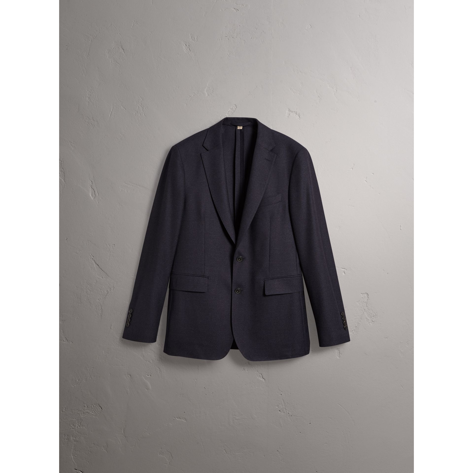 Soho Fit Wool Flannel Suit in Navy Melange - Men | Burberry Australia - gallery image 4