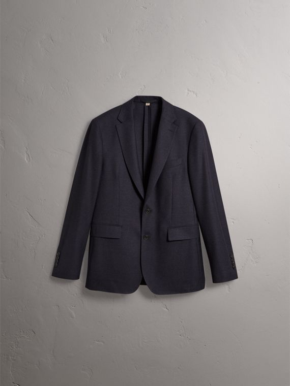 Soho Fit Wool Flannel Suit in Navy Melange - Men | Burberry - cell image 3