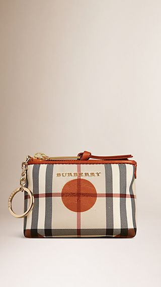Dot Print Horseferry Check Coin Wallet