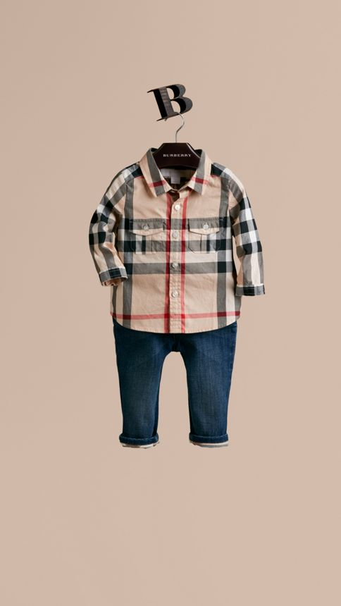 New classic Check Cotton Shirt - Image 1