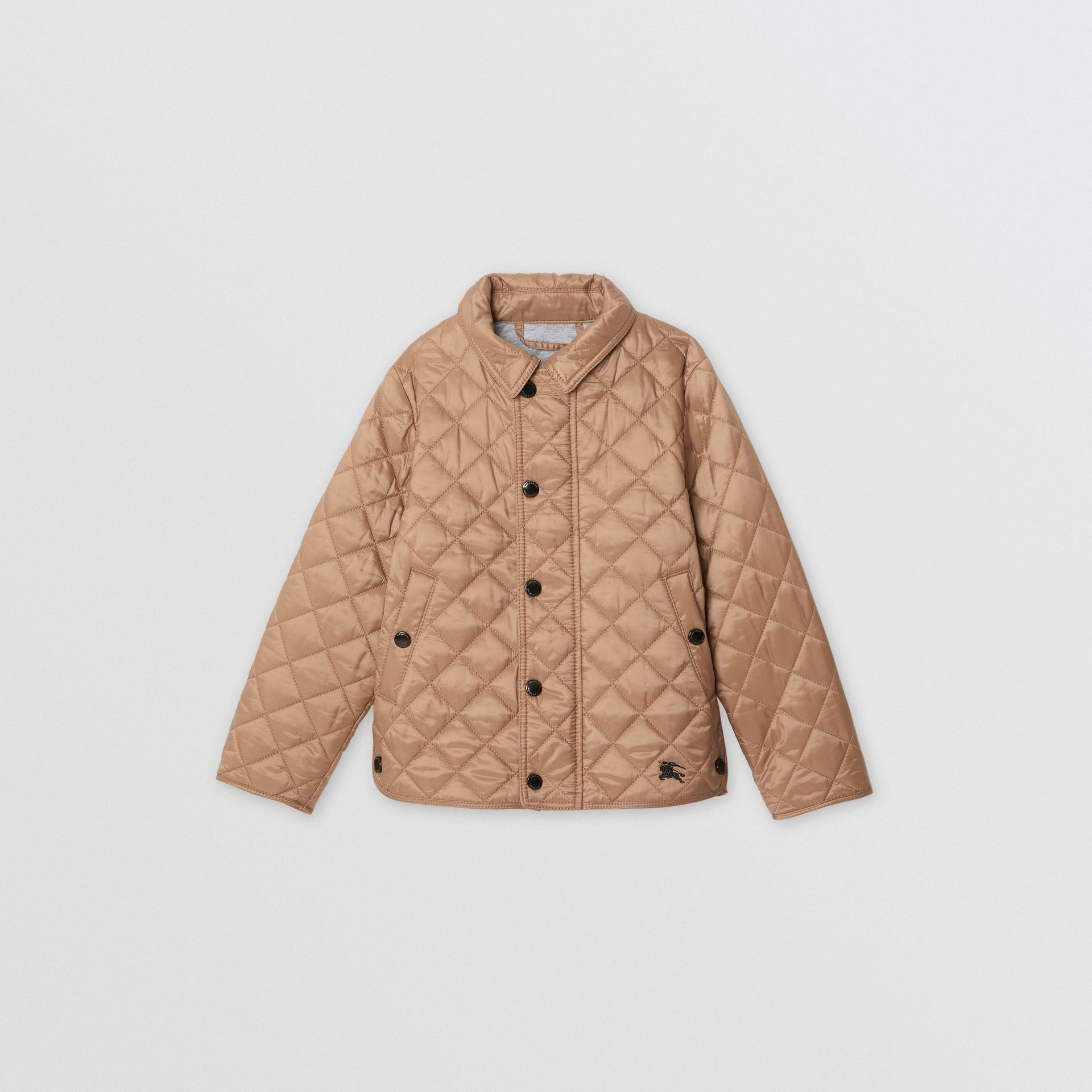 Lightweight Diamond Quilted Jacket in Camel | Burberry Australia - gallery image 0