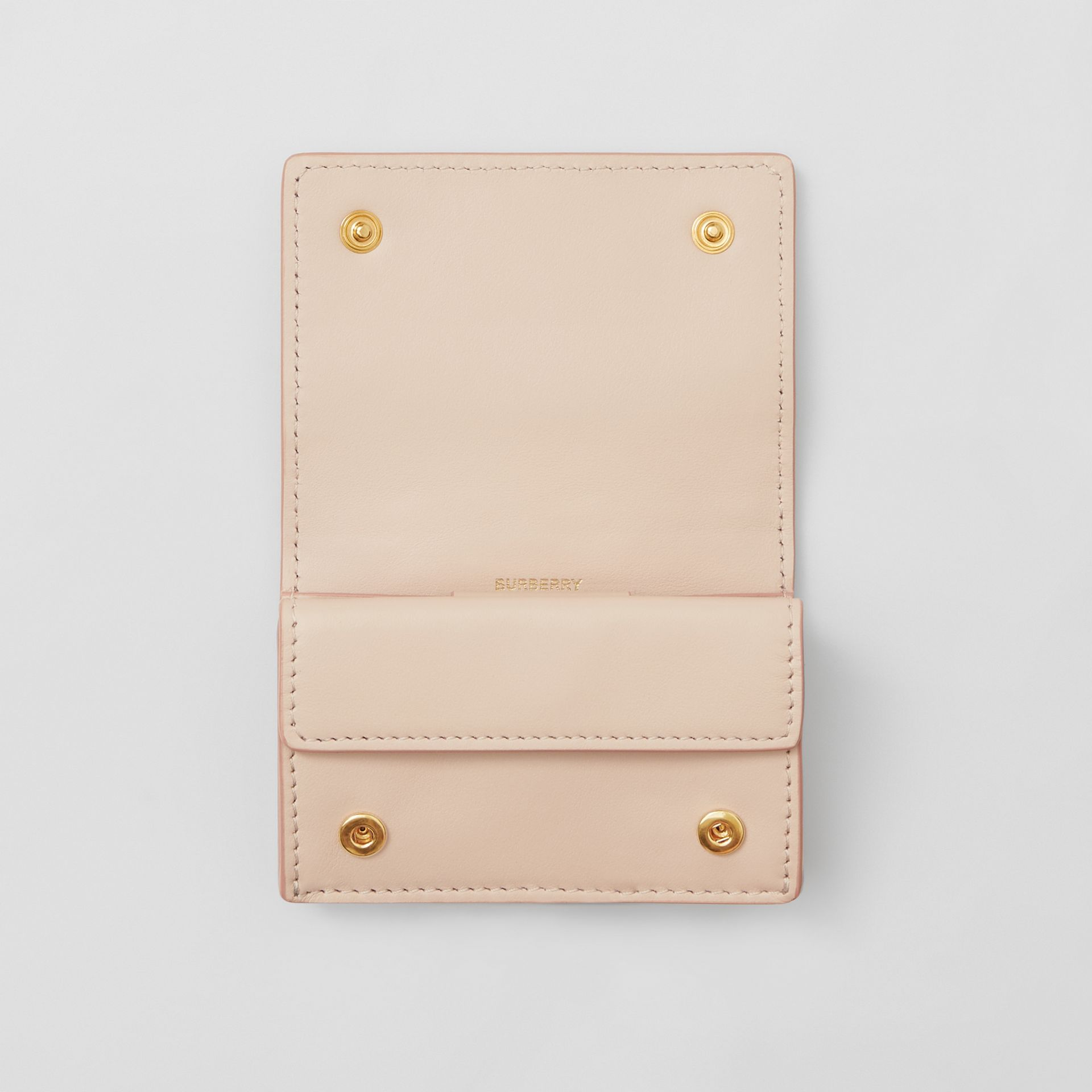 Porte-cartes en cuir Monogram (Beige Rose) | Burberry - photo de la galerie 3