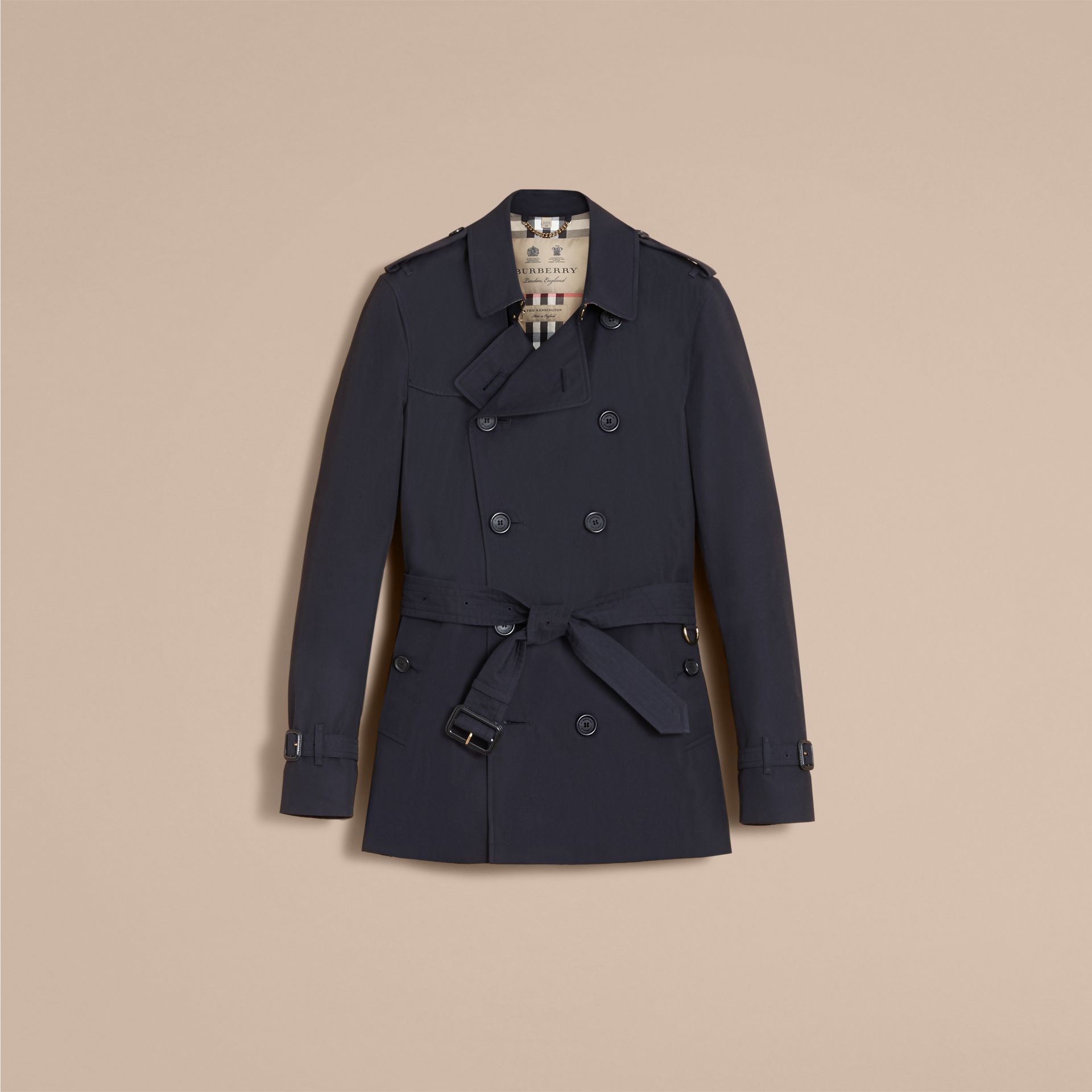 Navy The Kensington – Short Heritage Trench Coat Navy - gallery image 5