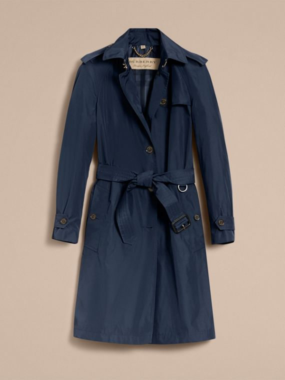 Single-breasted Technical Trench Coat Navy - cell image 3
