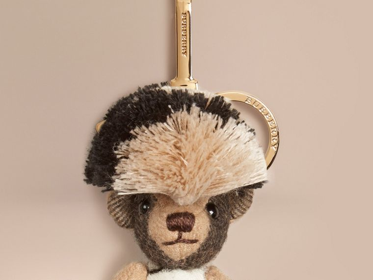 Camel/natural Thomas Bear Charm in Cashmere and Calfskin - cell image 1