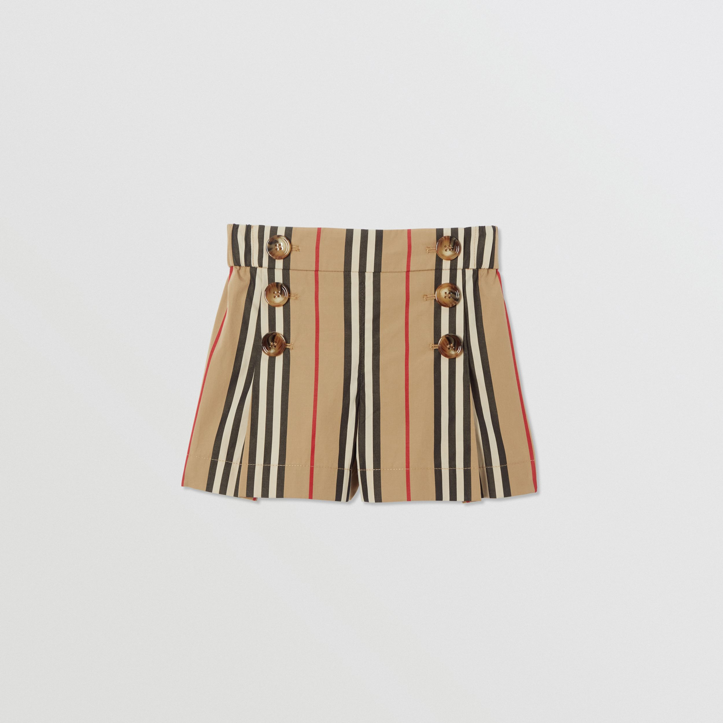 Icon Stripe Cotton Sailor Shorts in Archive Beige | Burberry - 1