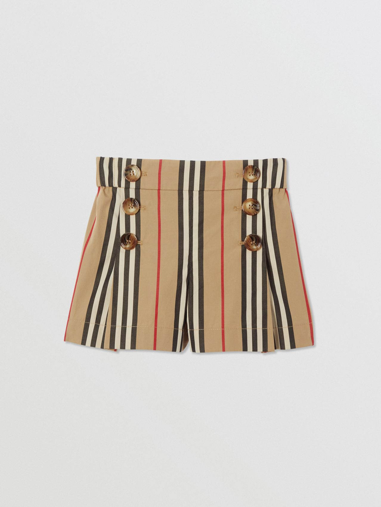 Icon Stripe Cotton Sailor Shorts in Archive Beige