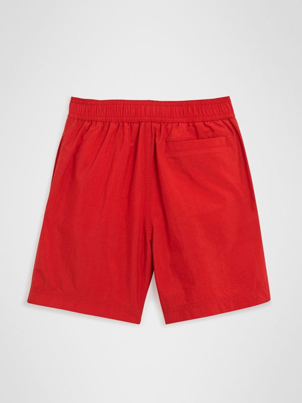 Drawcord Swim Shorts in Military Red | Burberry United States - cell image 3