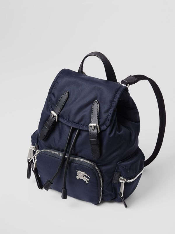 The Small Crossbody Rucksack in Puffer Nylon in Ink Blue - Women | Burberry - cell image 2