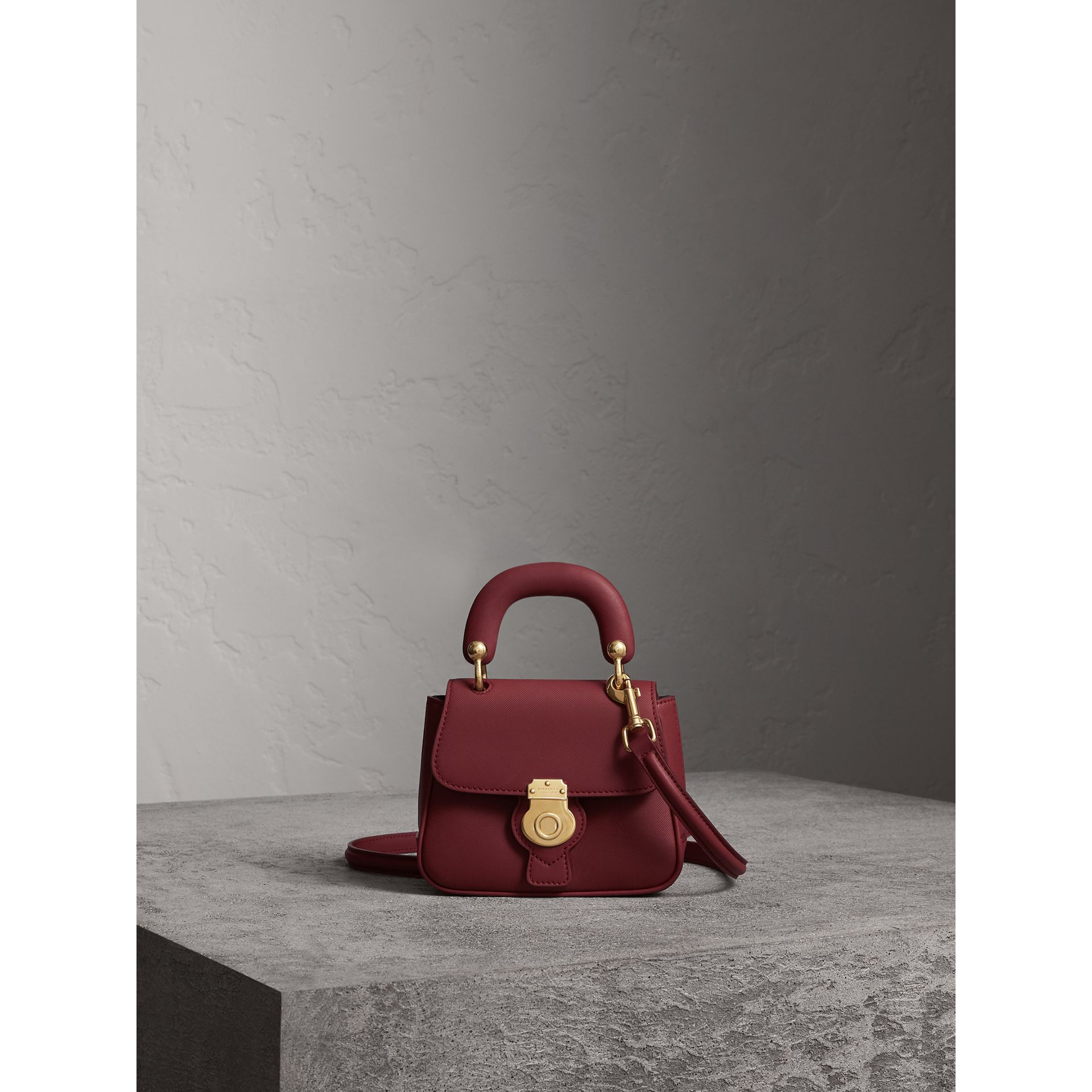 The Mini DK88 Top Handle Bag in Antique Red - Women | Burberry - gallery image 1