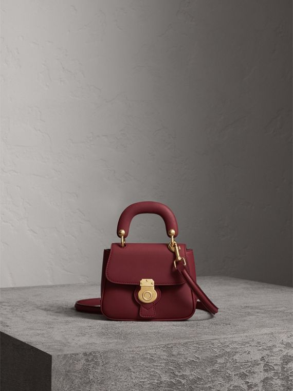 The Mini DK88 Top Handle Bag in Antique Red