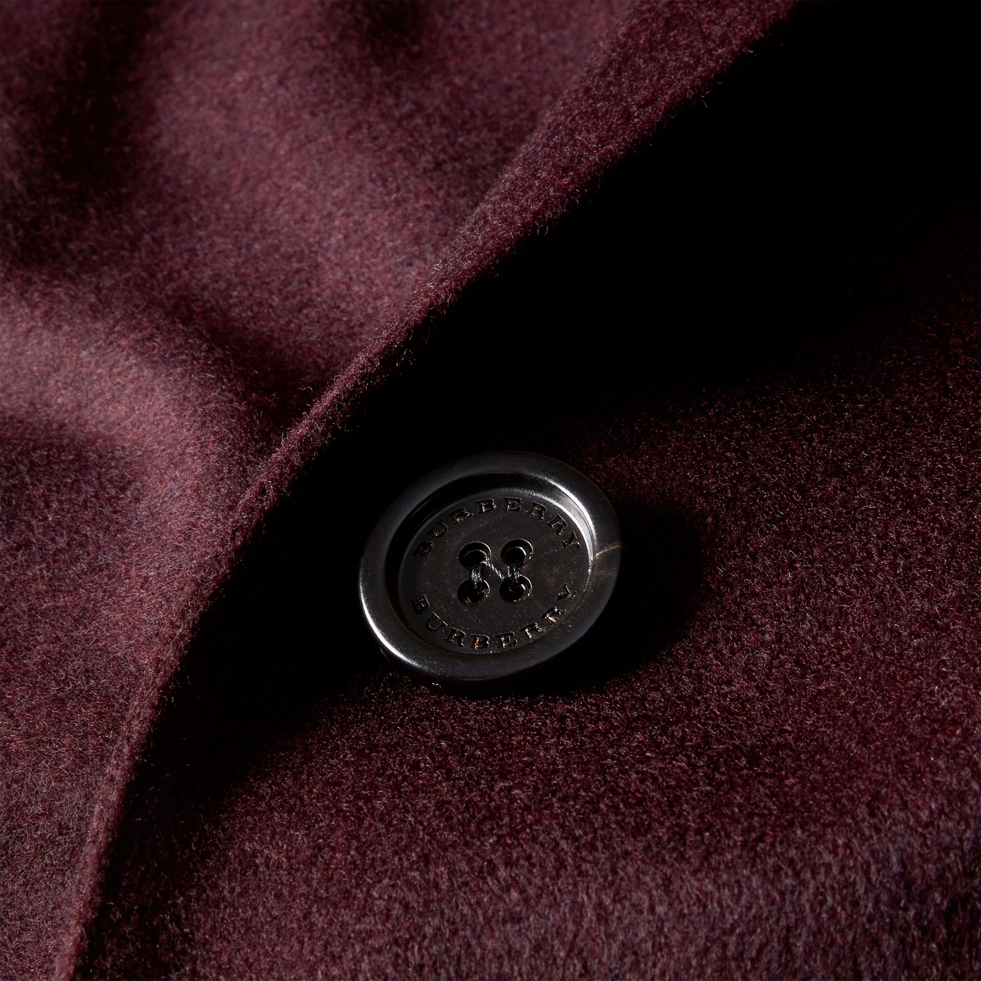 Dark elderberry Cashmere Tailored Coat Dark Elderberry - gallery image 2