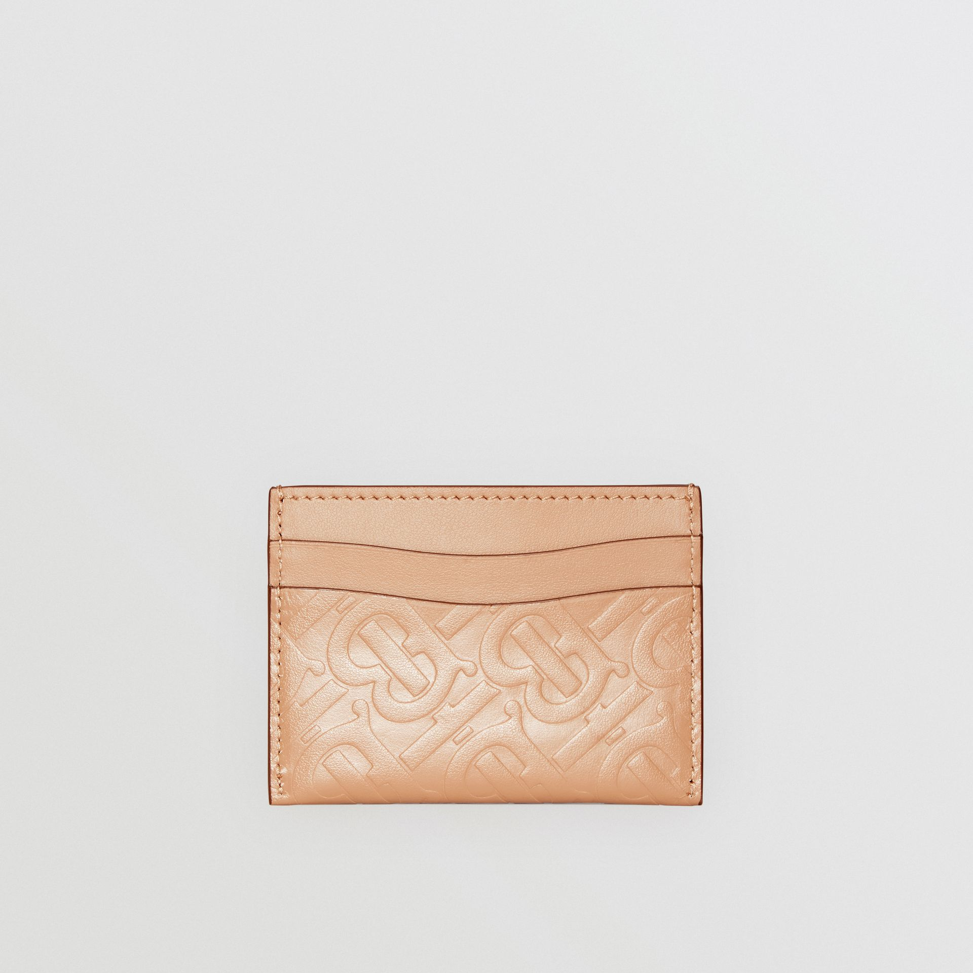 Porte-cartes en cuir Monogram (Camel Clair) - Femme | Burberry - photo de la galerie 4