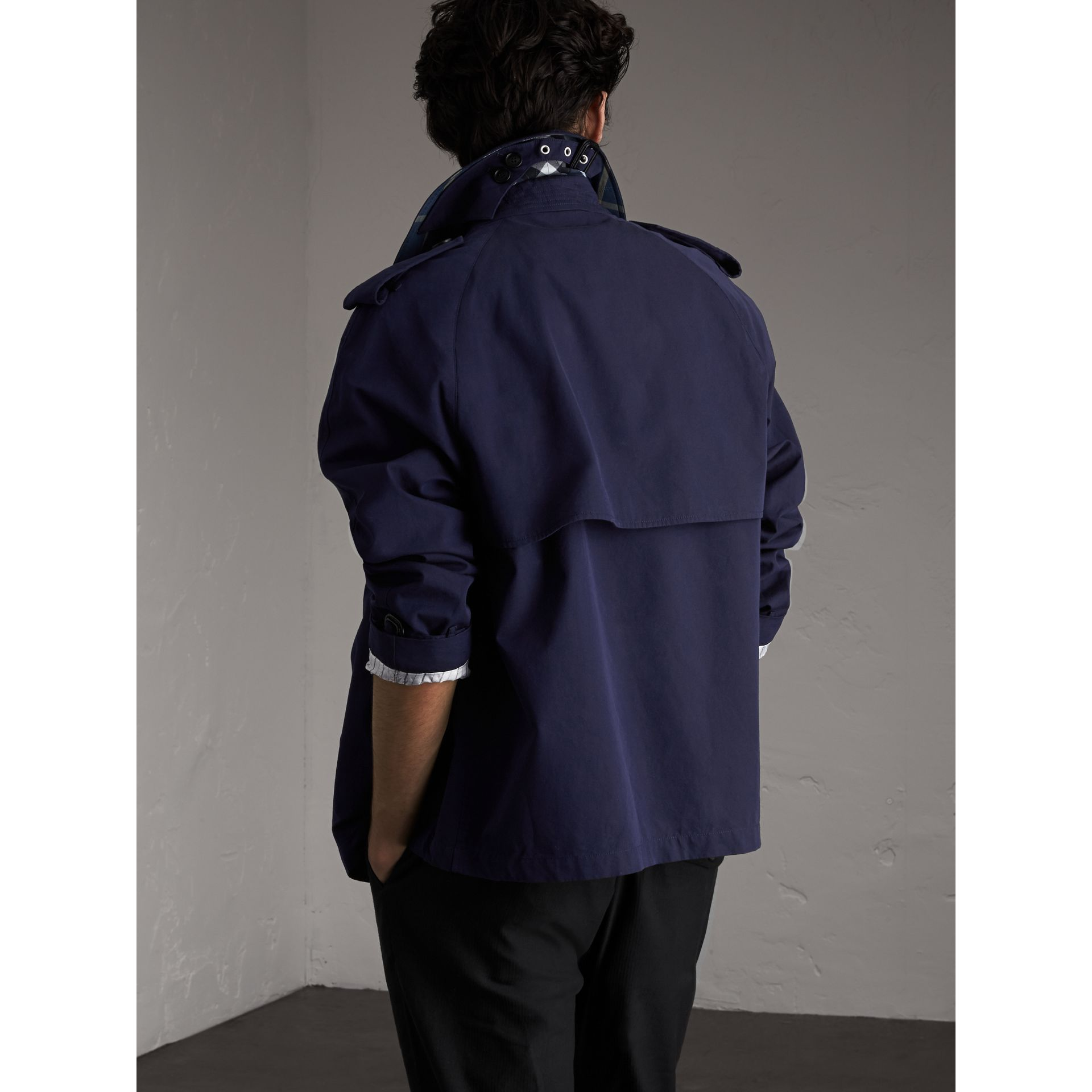 Unisex Tropical Gabardine Trench Jacket in Blueberry - Men | Burberry - gallery image 1