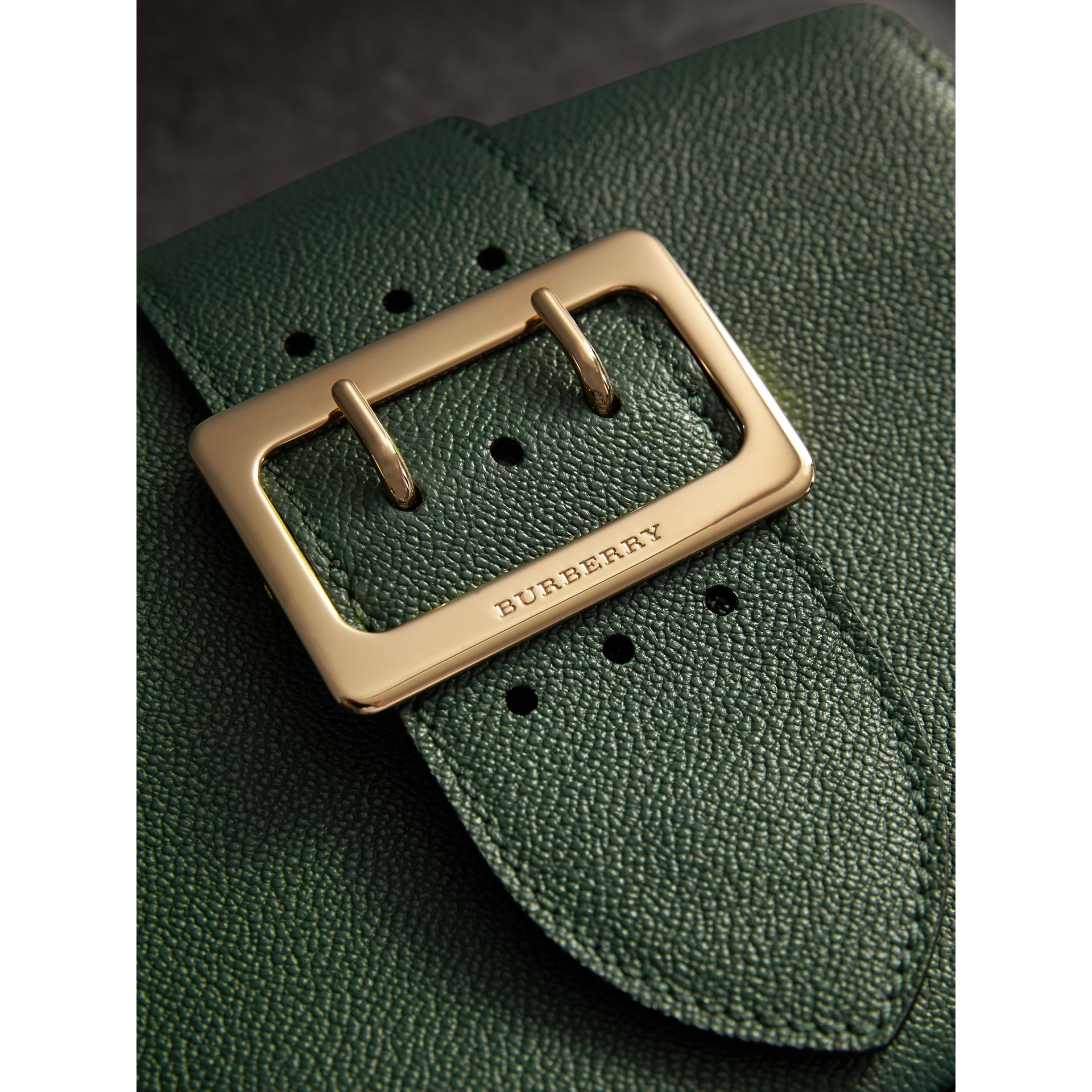 The Small Buckle Crossbody Bag in Leather in Sea Green - Women | Burberry Australia - gallery image 2