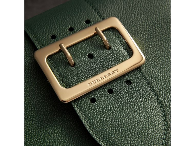 The Small Buckle Crossbody Bag in Leather in Sea Green - Women | Burberry Australia - cell image 1