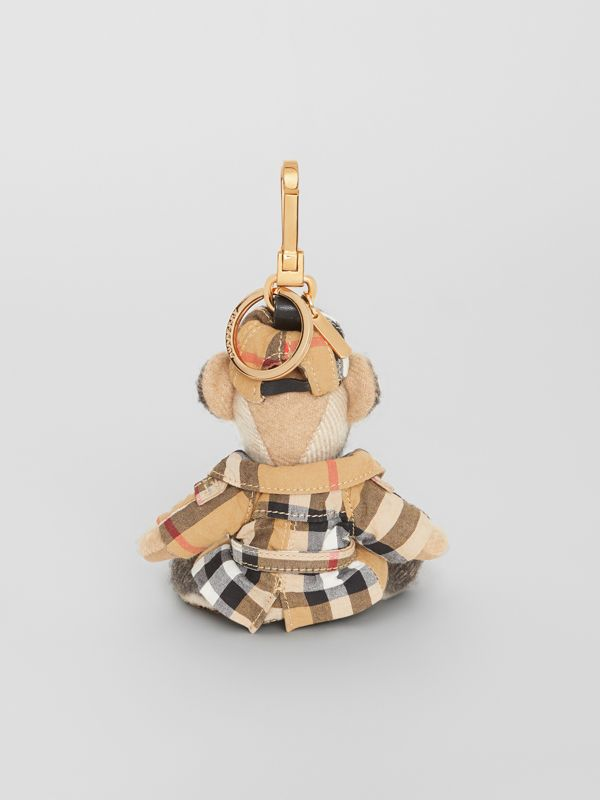 Thomas Bear Charm in Vintage Check Trench Coat in Camel | Burberry - cell image 3