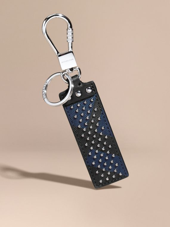 Riveted London Check Key Ring