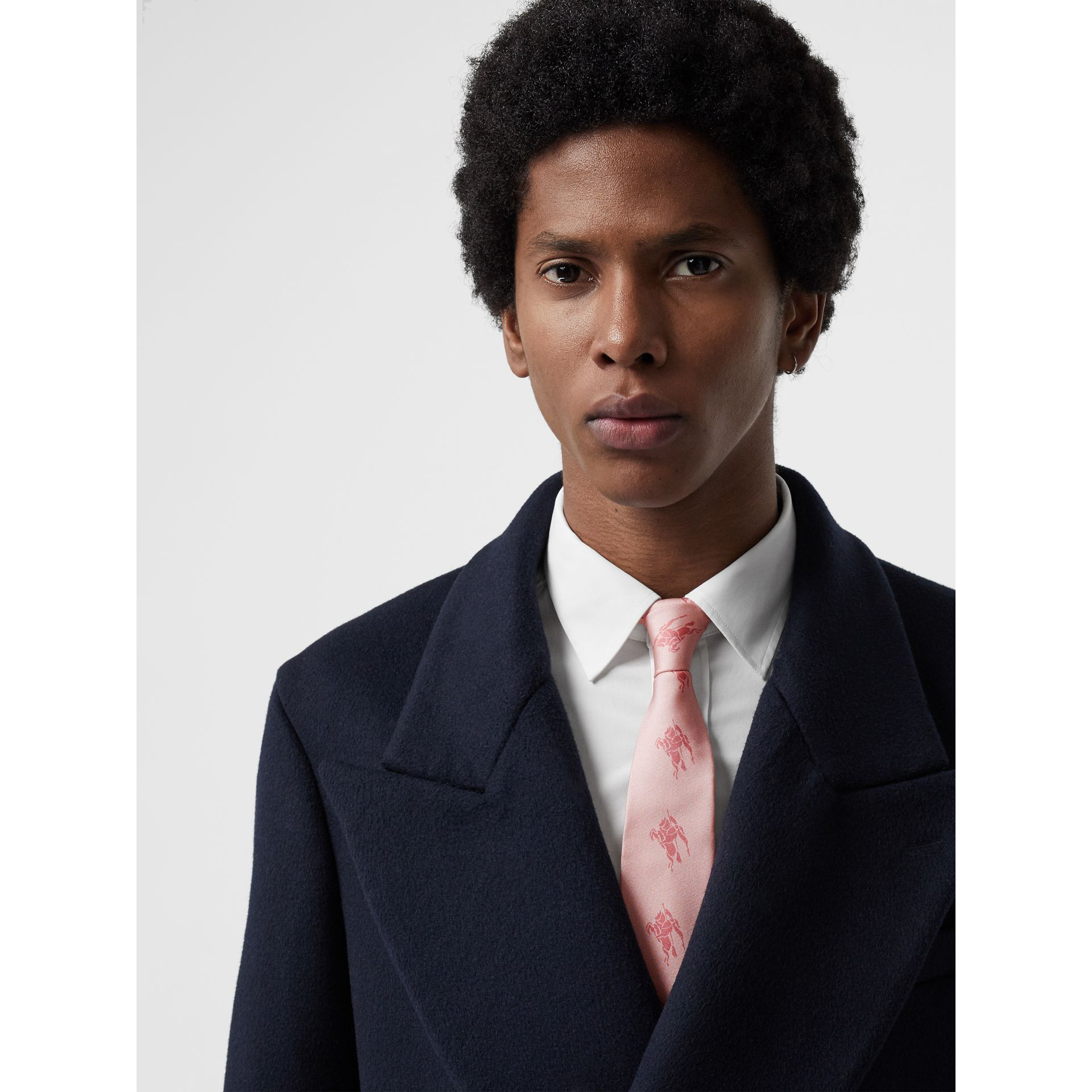 Modern Cut Archive Scarf Print Silk Tie in Pale Pink - Men   Burberry United States - gallery image 2