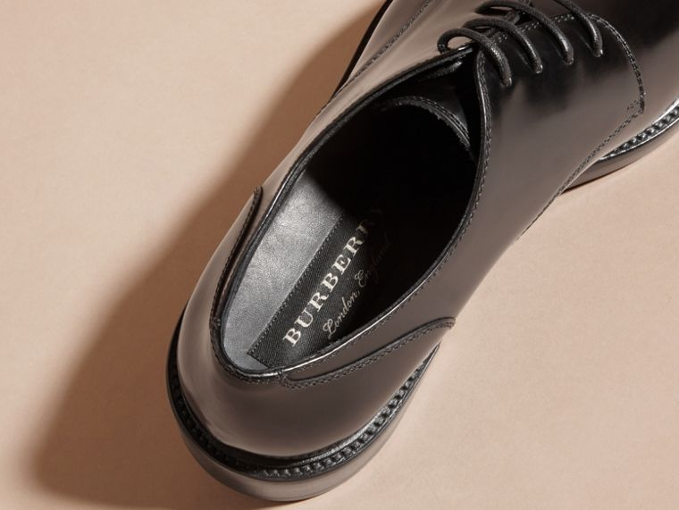 Black Leather Derby Shoes Black - cell image 1