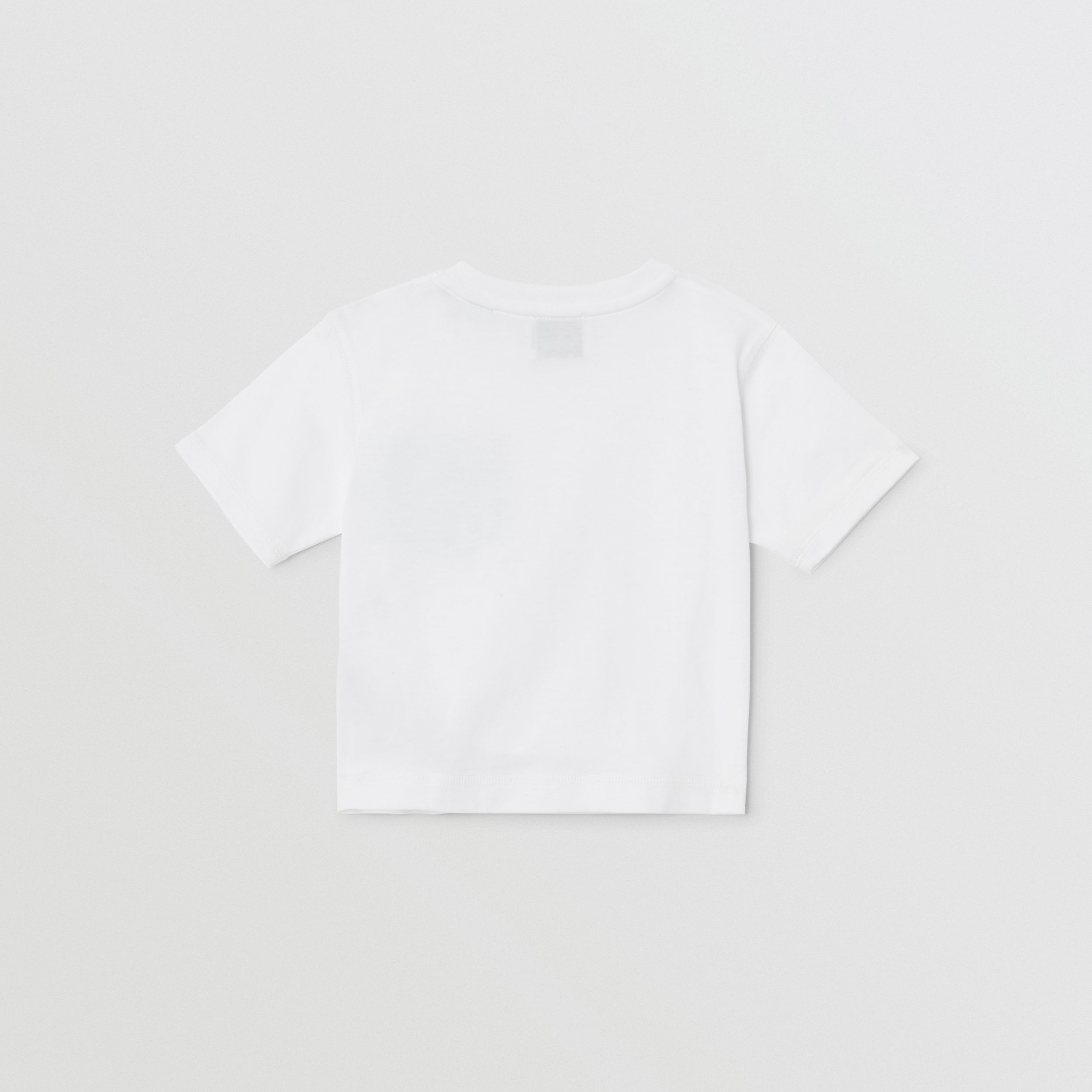 Icon Stripe Pocket Cotton T-shirt in White/pale Blue - Children | Burberry - 3