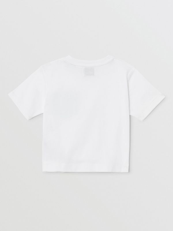 Icon Stripe Pocket Cotton T-shirt in White/pale Blue - Children | Burberry - cell image 2
