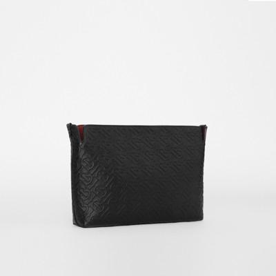 Clutch Monogram Black States In Leather WomenBurberry United Medium ordBeWCx