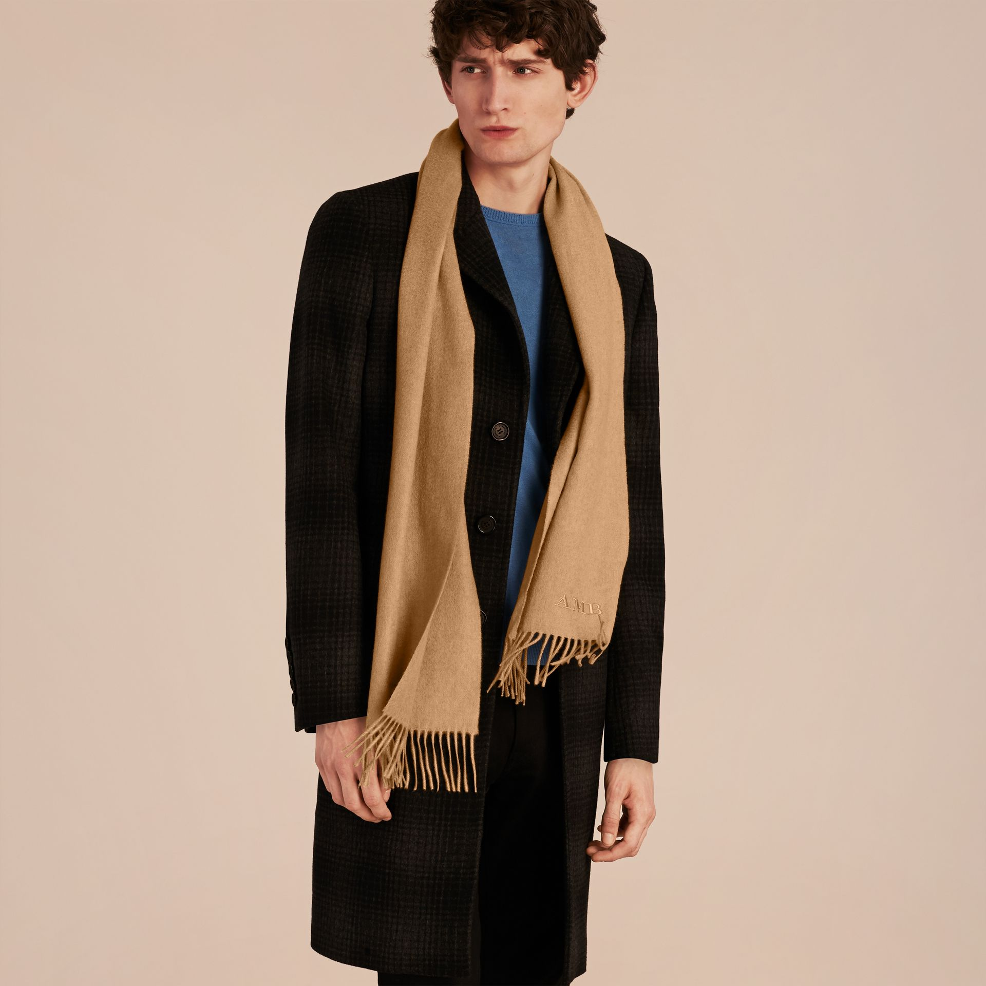 Camel The Classic Cashmere Scarf Camel - gallery image 4
