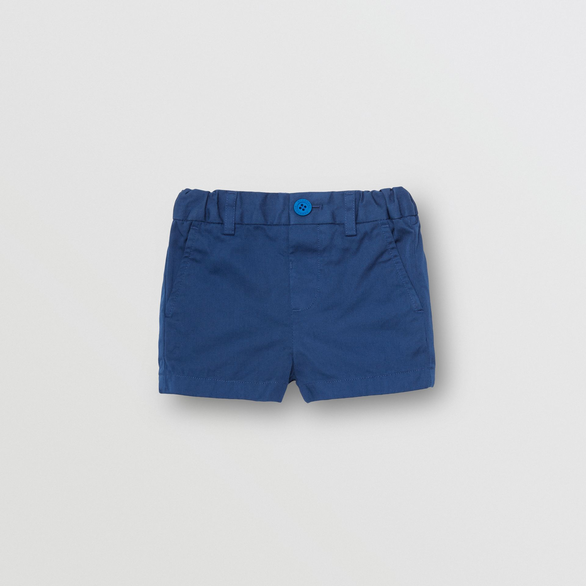 Cotton Chino Shorts in Bright Navy - Children | Burberry - gallery image 0