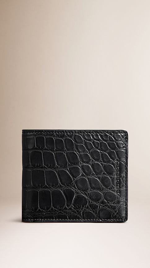 Black Alligator Folding Wallet - Image 1