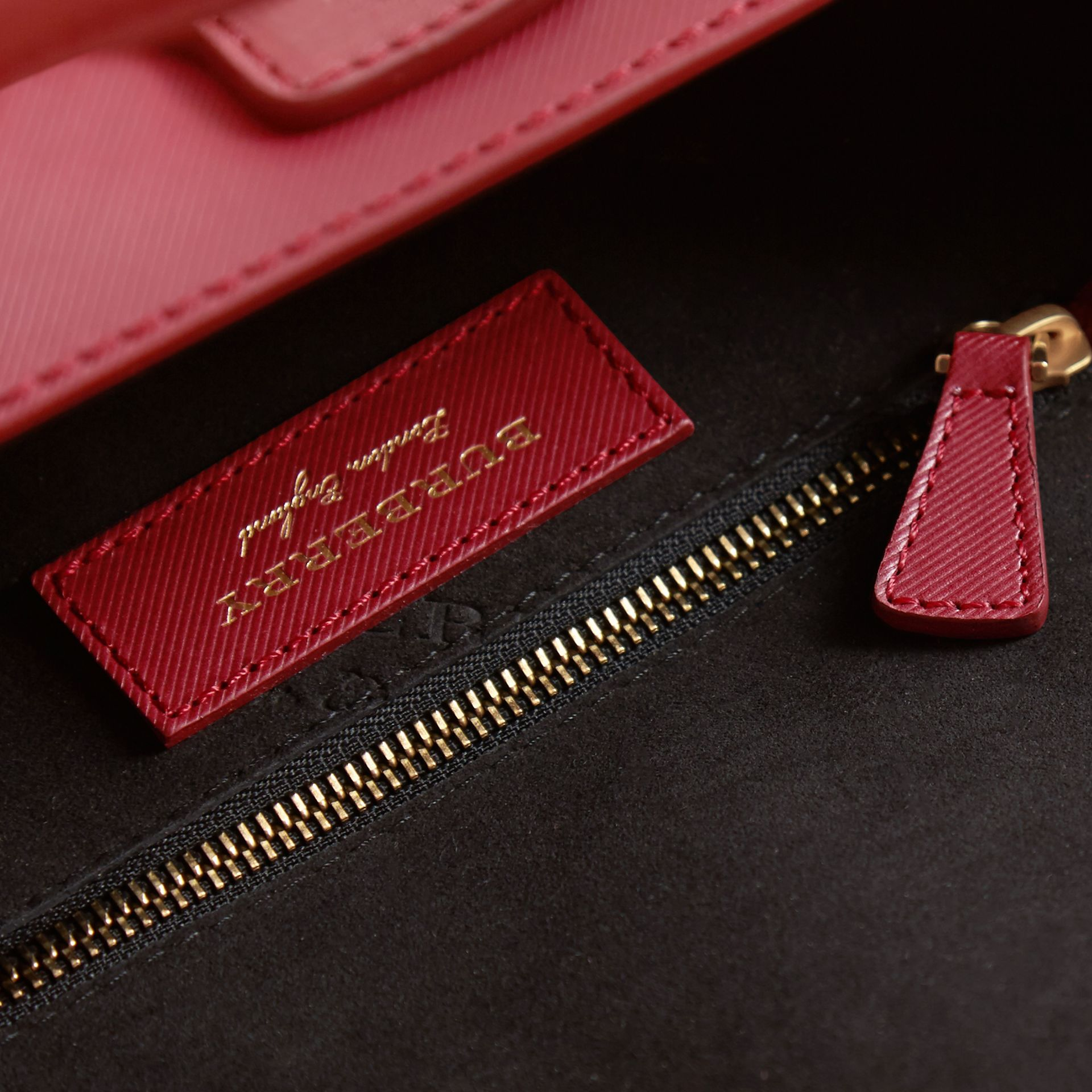 The Small DK88 Barrel Bag in Antique Red - Women | Burberry - gallery image 3