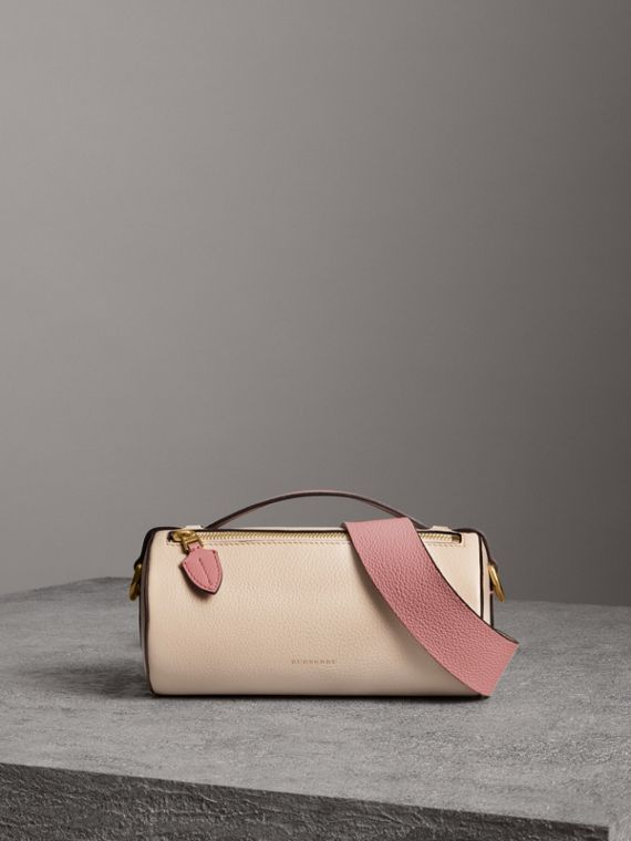 Borsa The Barrel in pelle (Calcare/rosa Polvere)