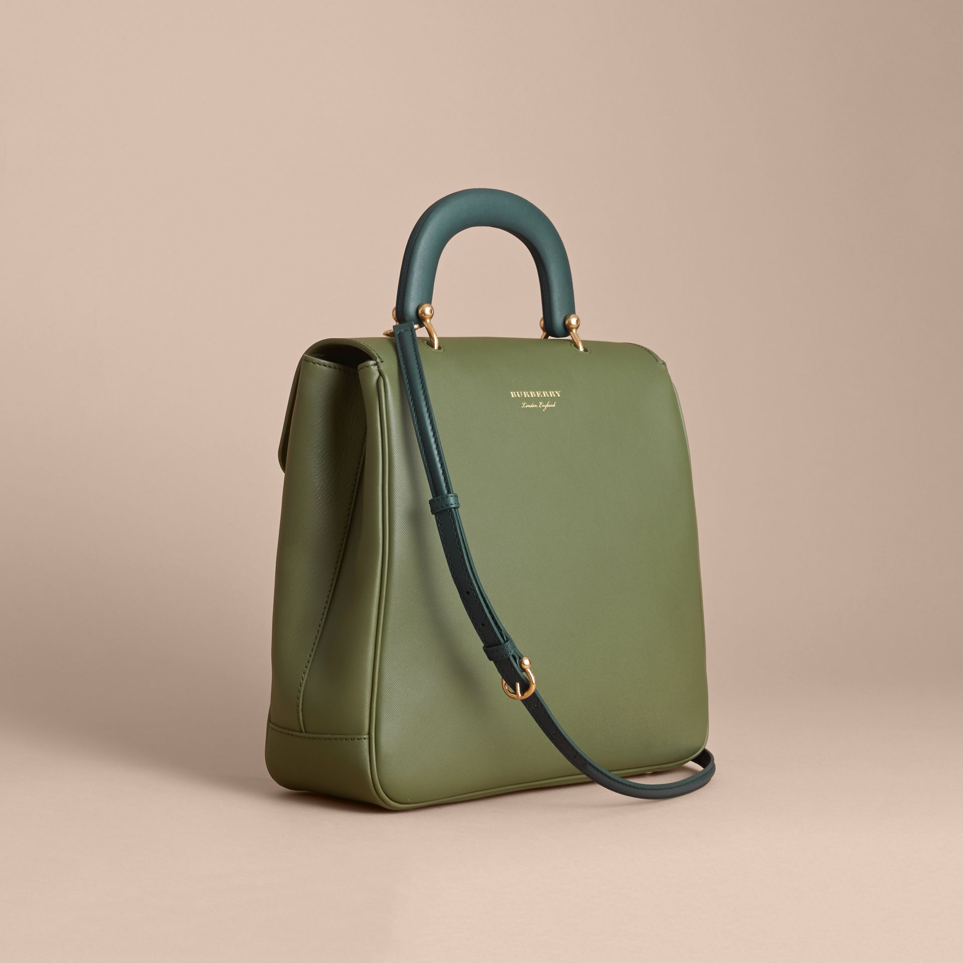 The Large DK88 Top Handle Bag Moss Green - gallery image 5
