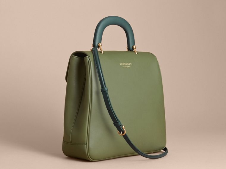 The Large DK88 Top Handle Bag Moss Green - cell image 4