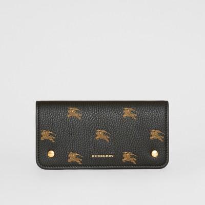 Ekd Leather Phone Wallet in Black