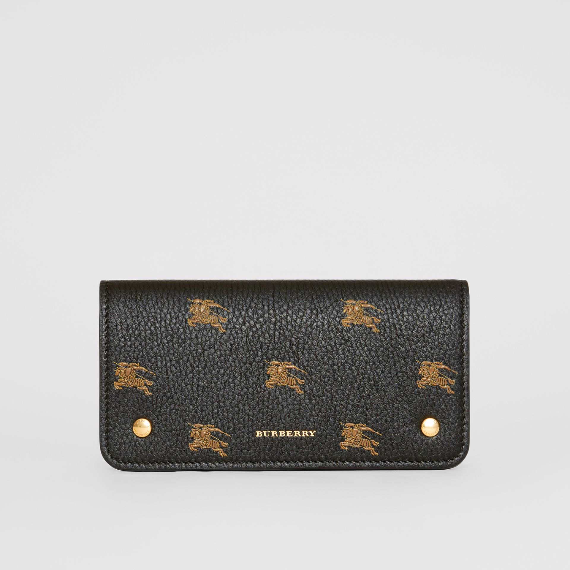 EKD Leather Phone Wallet in Black - Women | Burberry Australia - gallery image 0