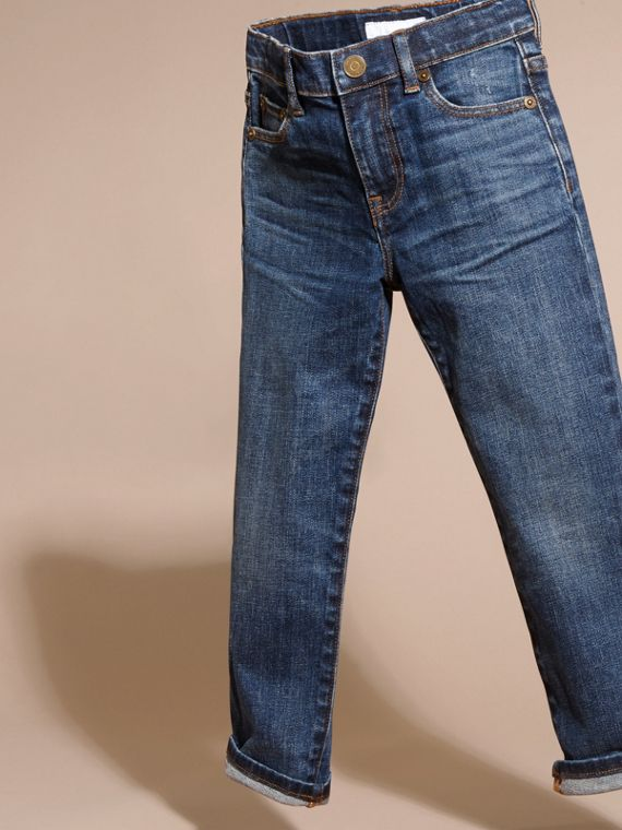 Relaxed Fit Japanese Stretch Denim Jeans - Boy | Burberry - cell image 2