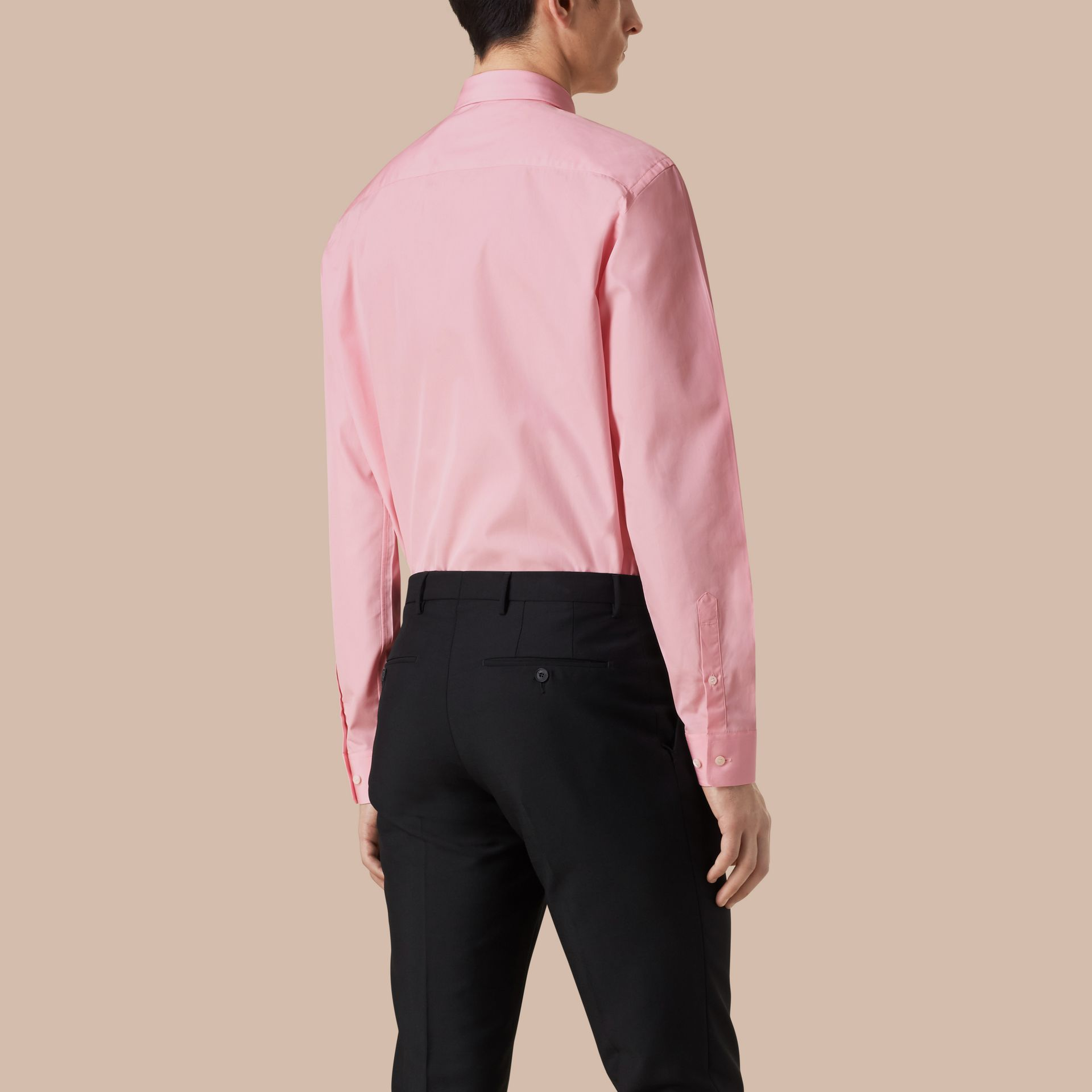 Modern Fit Cotton Poplin Shirt City Pink - gallery image 3