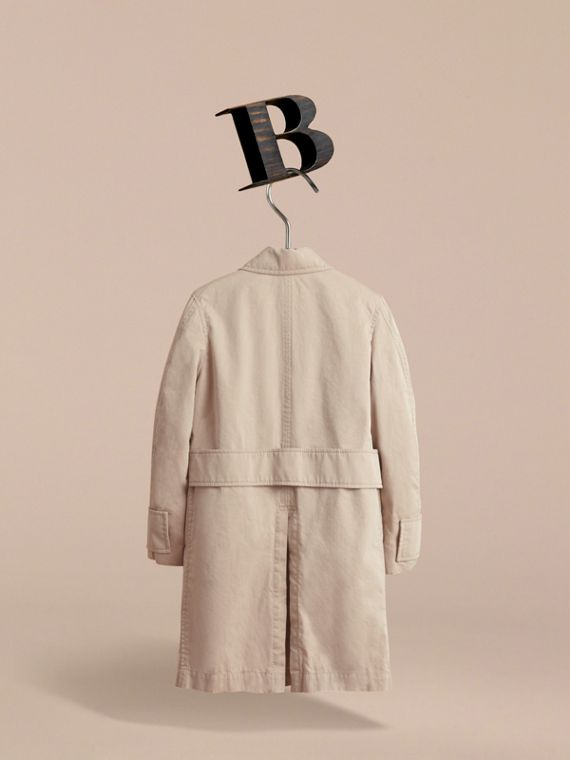 Tropical Gabardine Car Coat in Light Taupe | Burberry - cell image 3