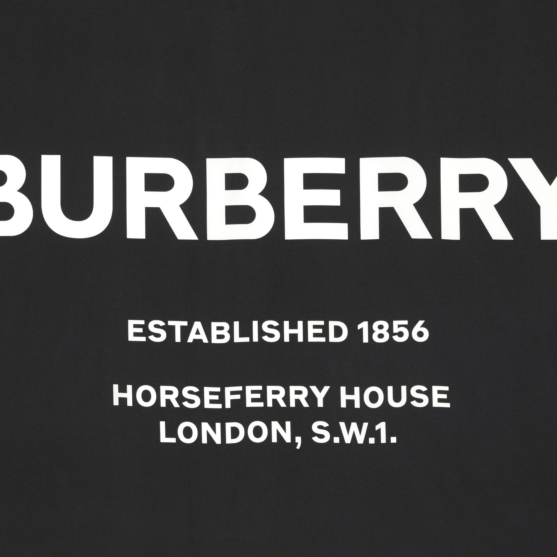 Carré de soie Horseferry (Noir) | Burberry Canada - photo de la galerie 1