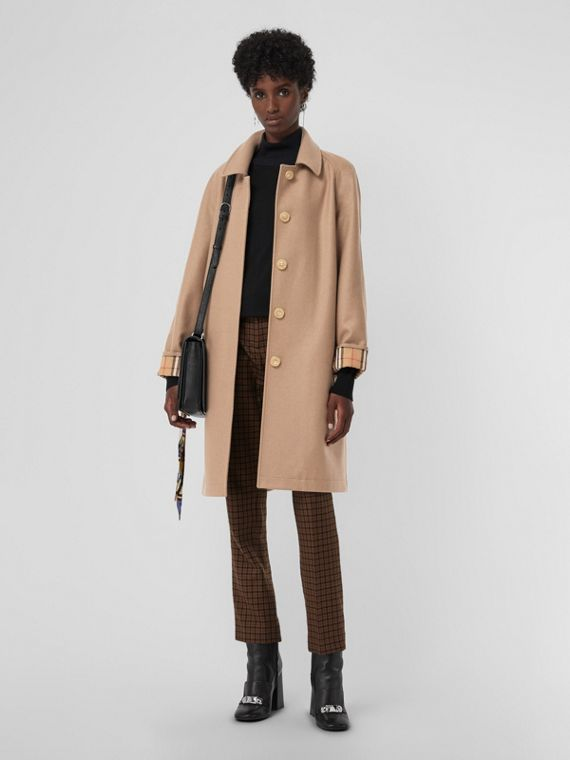 Cashmere Car Coat in Camel