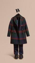 Check Wool Topcoat