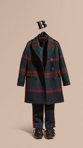 Check Wool Topcoat