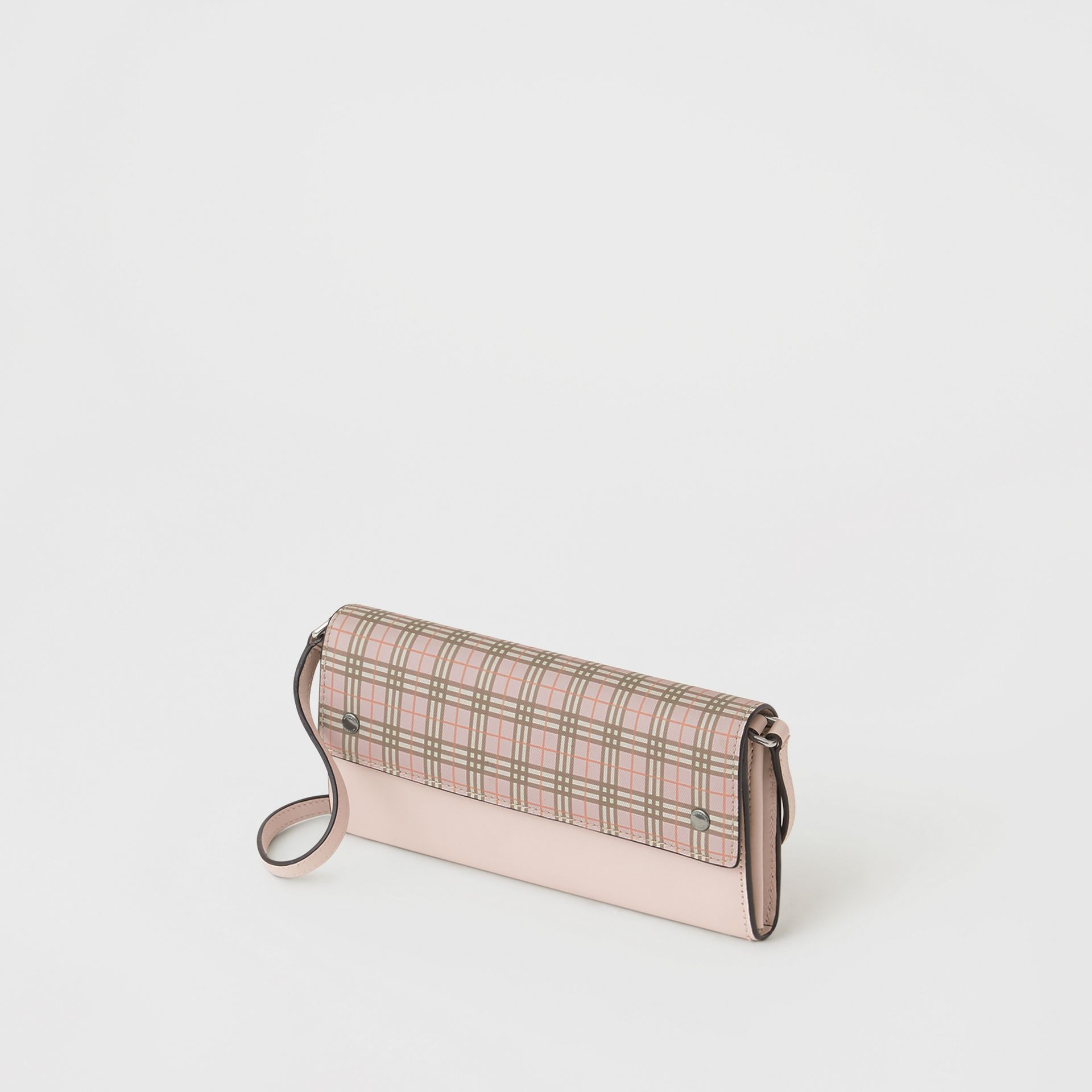 Small Scale Check Wallet with Detachable Strap in Ice Pink - Women | Burberry Canada - gallery image 4