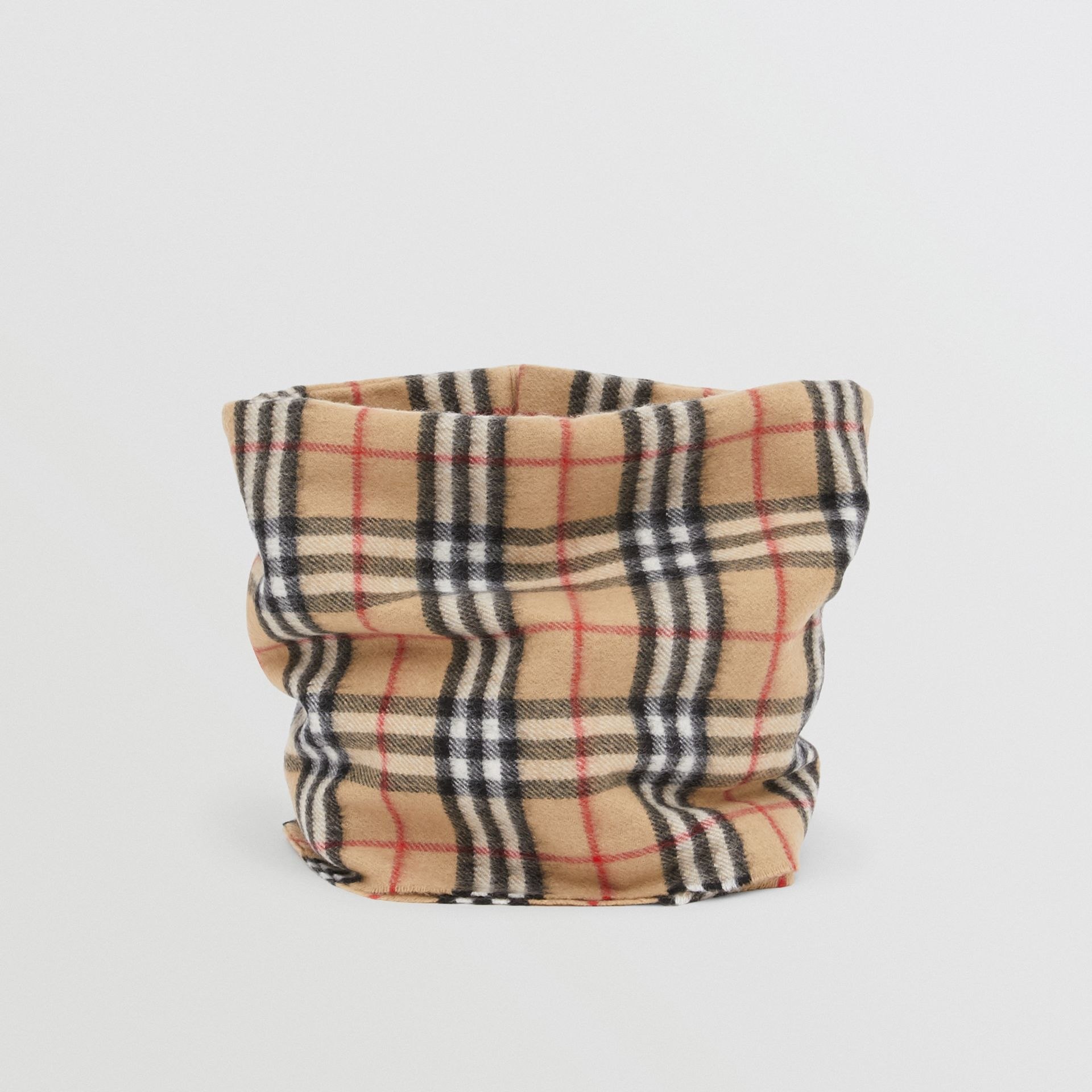 Vintage Check Cashmere Snood in Archive Beige - Children | Burberry - gallery image 2