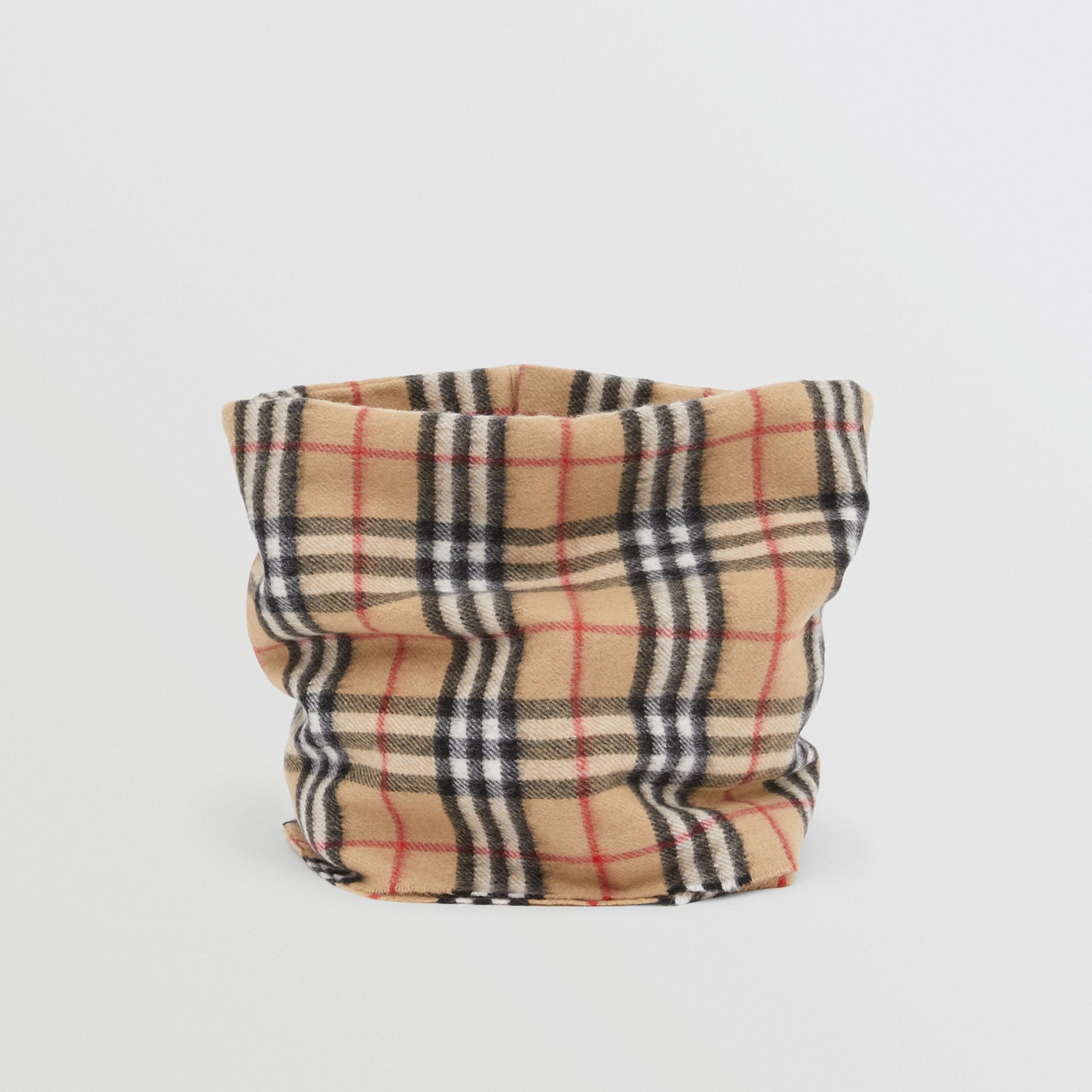 Vintage Check Cashmere Snood in Archive Beige - Children | Burberry - 3
