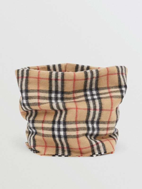Vintage Check Cashmere Snood in Archive Beige - Children | Burberry - cell image 2