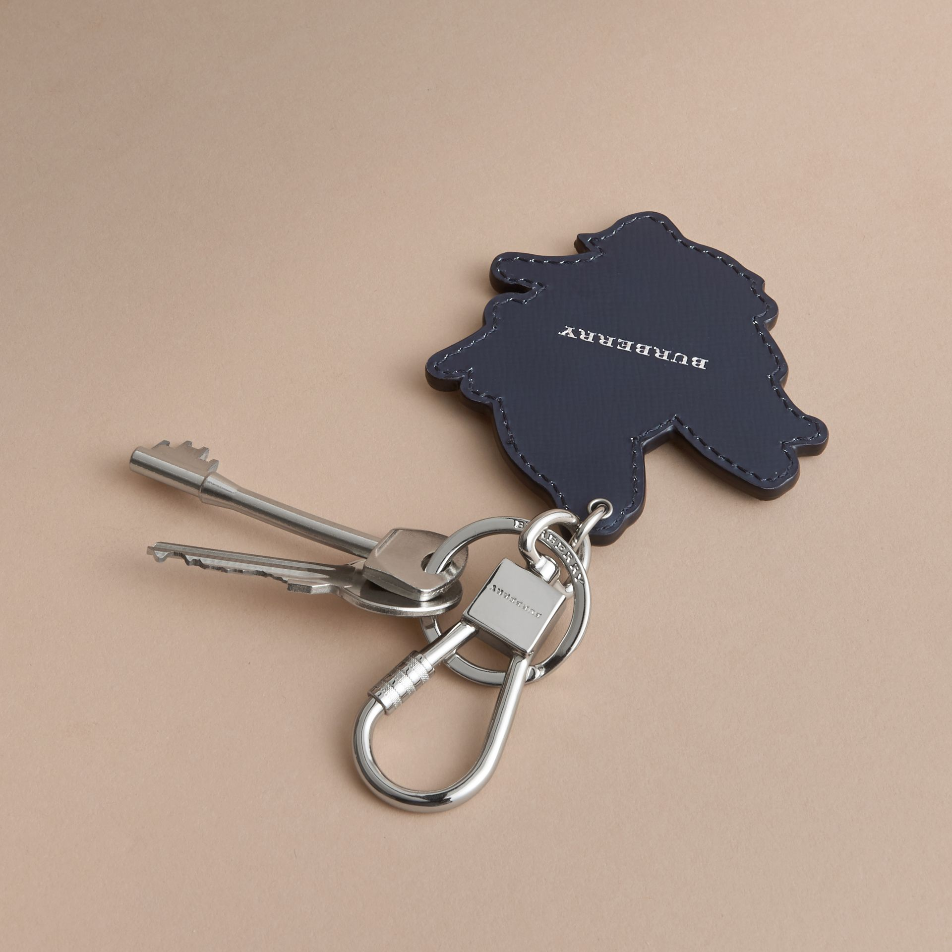 Beasts Leather Key Ring in Tan - gallery image 4