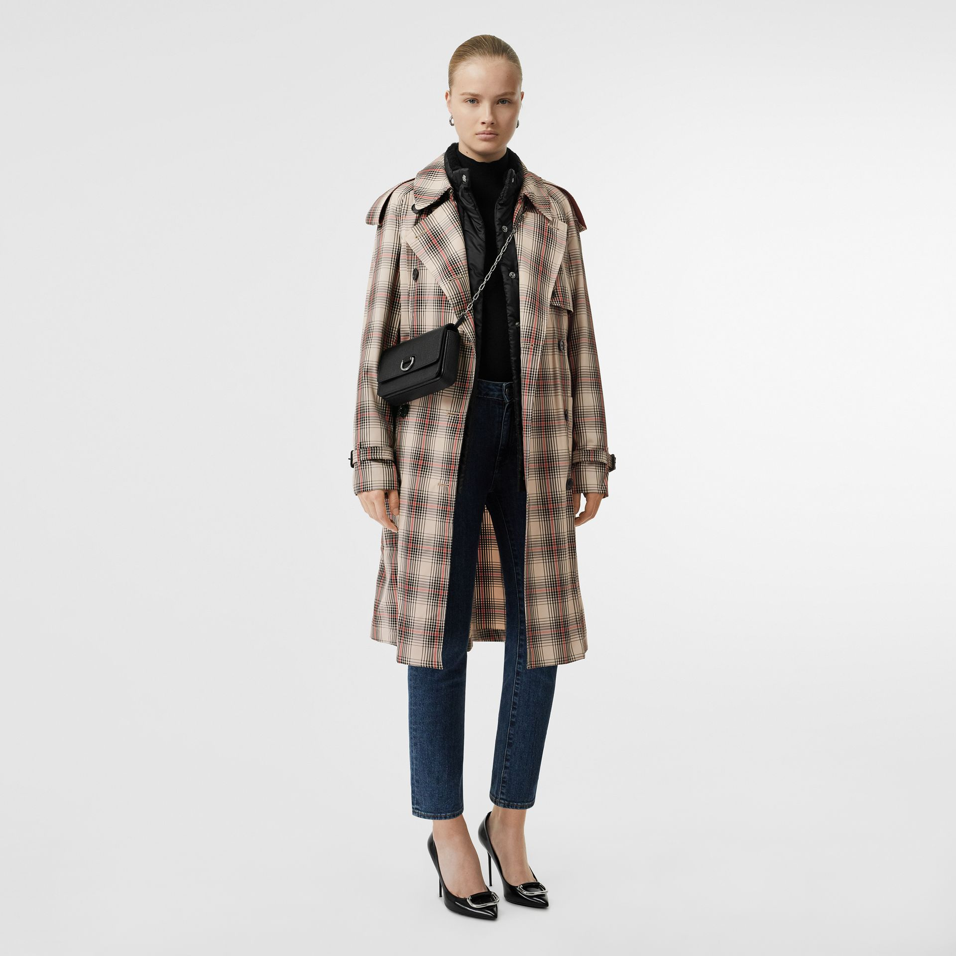 Lightweight Check Trench Coat in Light Nude - Women | Burberry - gallery image 0